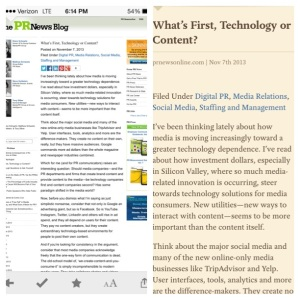 Before and After: Pocket makes reading online simpler.